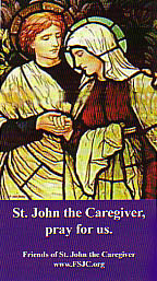 St. John the Caregiver Holy Card